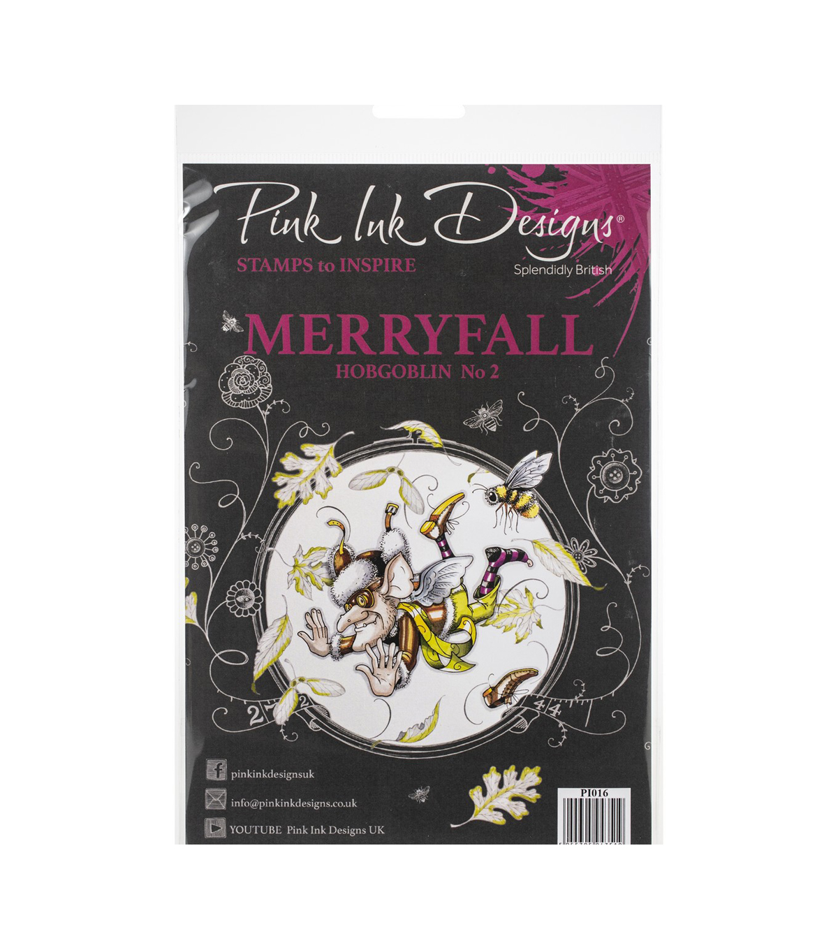 Pink Ink Designs A5 Clear Stamp Set-Merryfall Hobgoblin 2