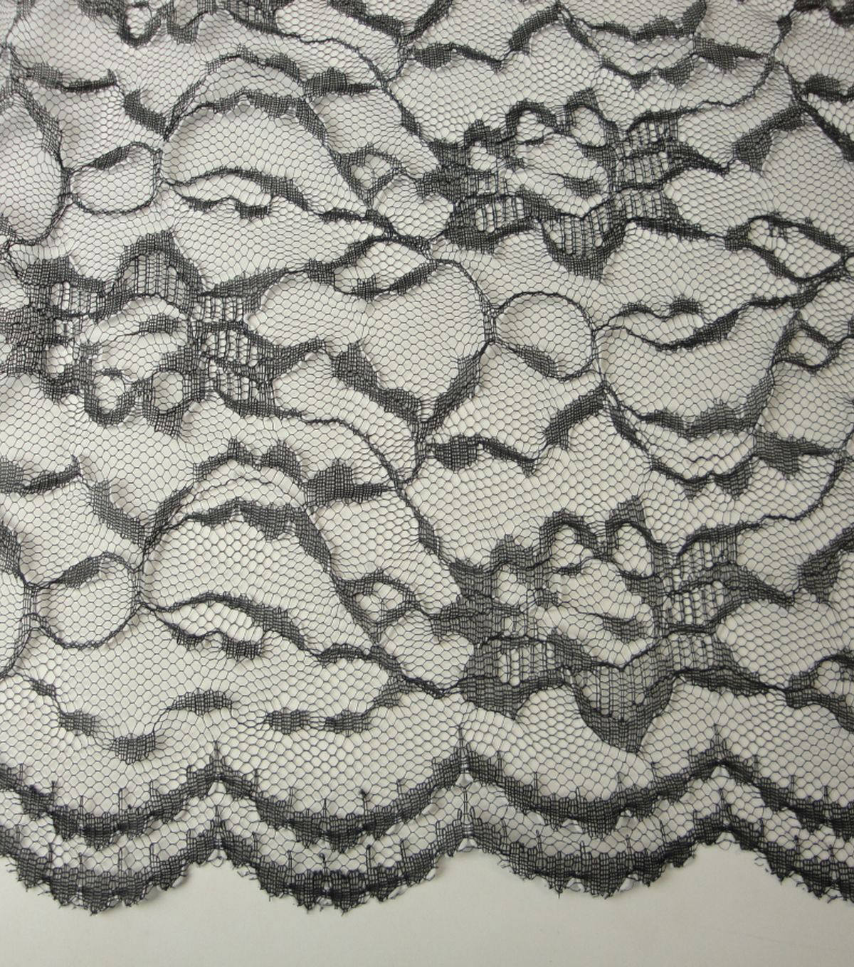 Casa Collection Lace Fabric -Two-Tone White/Black