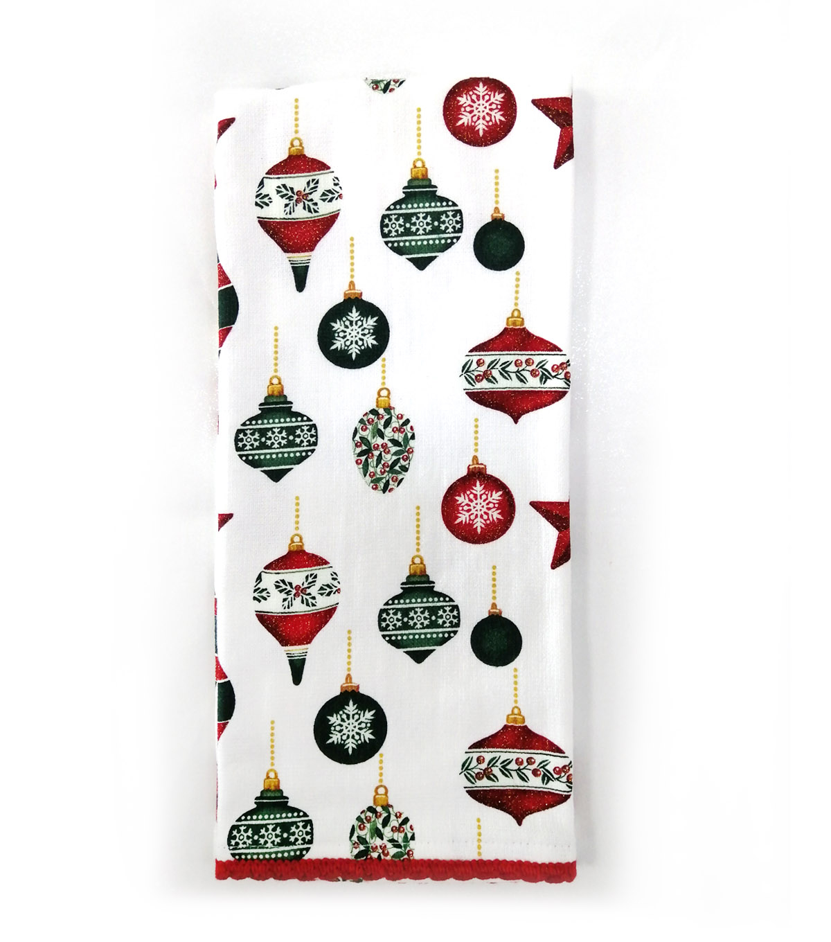 Handmade Holiday Christmas 16\u0027\u0027x26\u0027\u0027 Cotton Towel-Tossed Ornaments