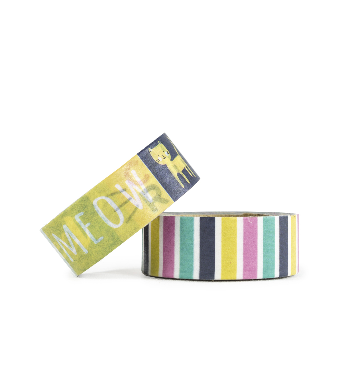 Park Lane 2 pk Washi Tapes 0.6\u0027\u0027x10 yds-Cats Meow