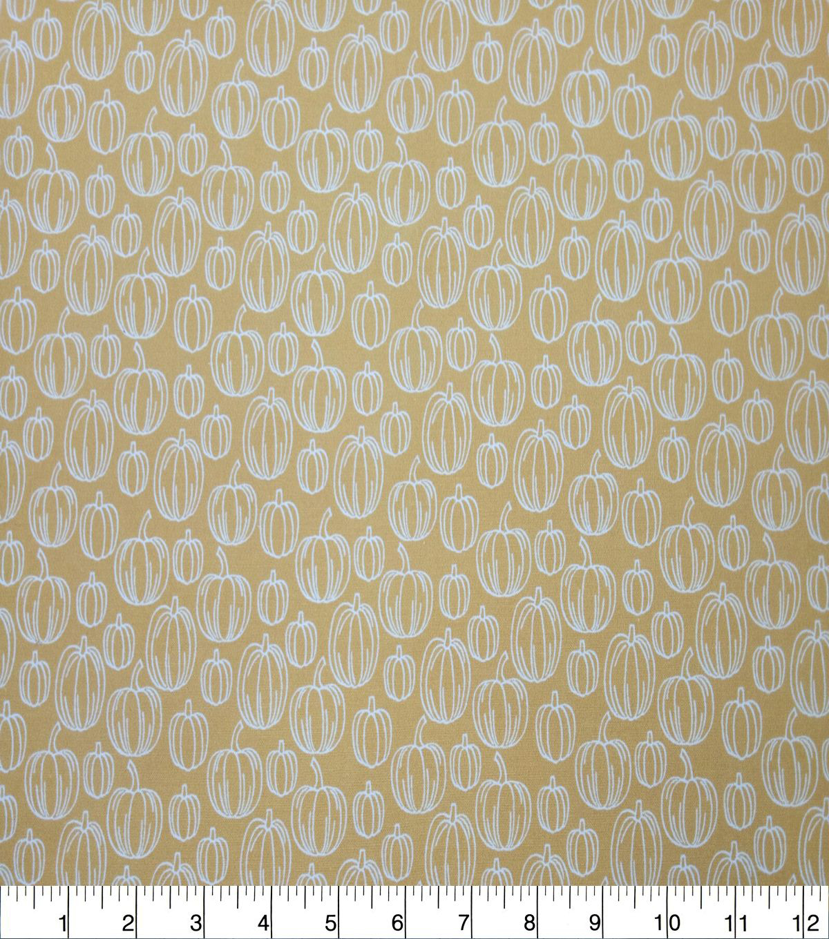 Quilter\u0027s Showcase Cotton Fabric-Golden Apricot Lined Pumpkins