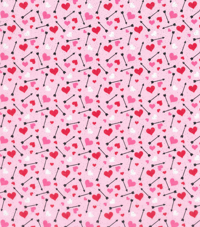 Valentine S Day Glitter Fabric Hearts Arrows Joann