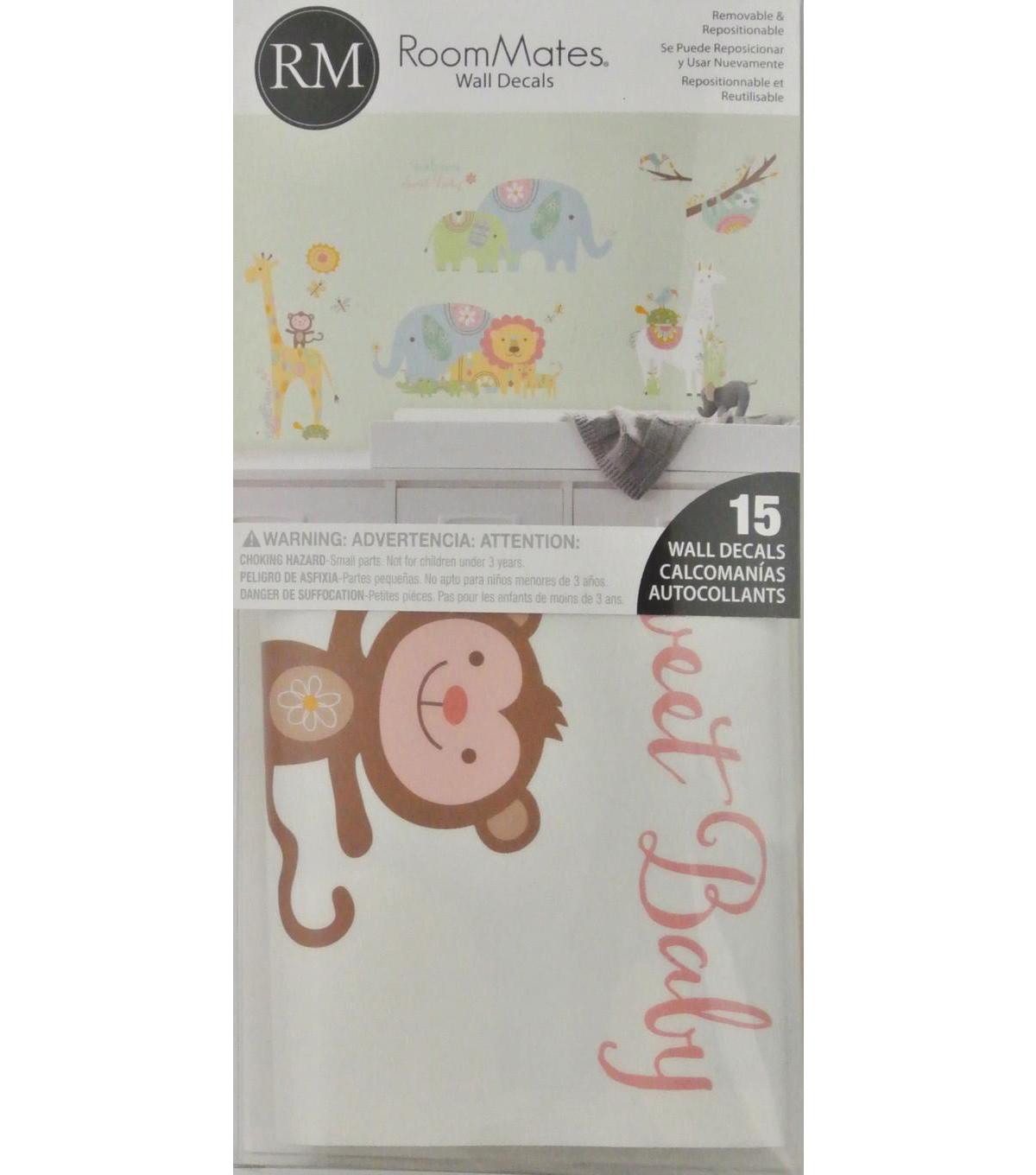 York Wallcoverings Wall Decals-Tribal Baby Animals