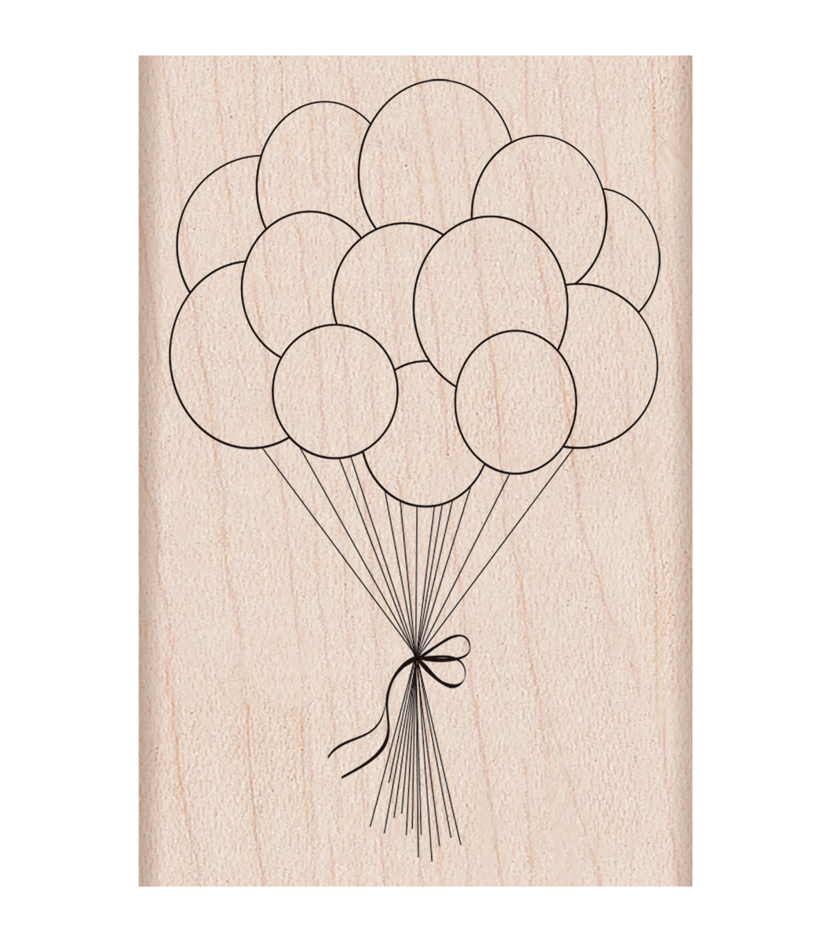 Hero Arts Mounted Rubber Stamp-Birthday Balloons