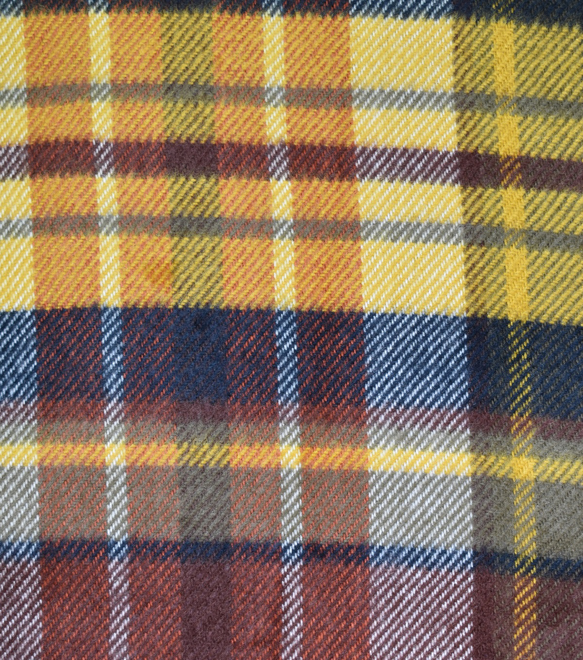 Sportswear Acrylic Fabric 52\u0022-Maroon & Yellow Plaid