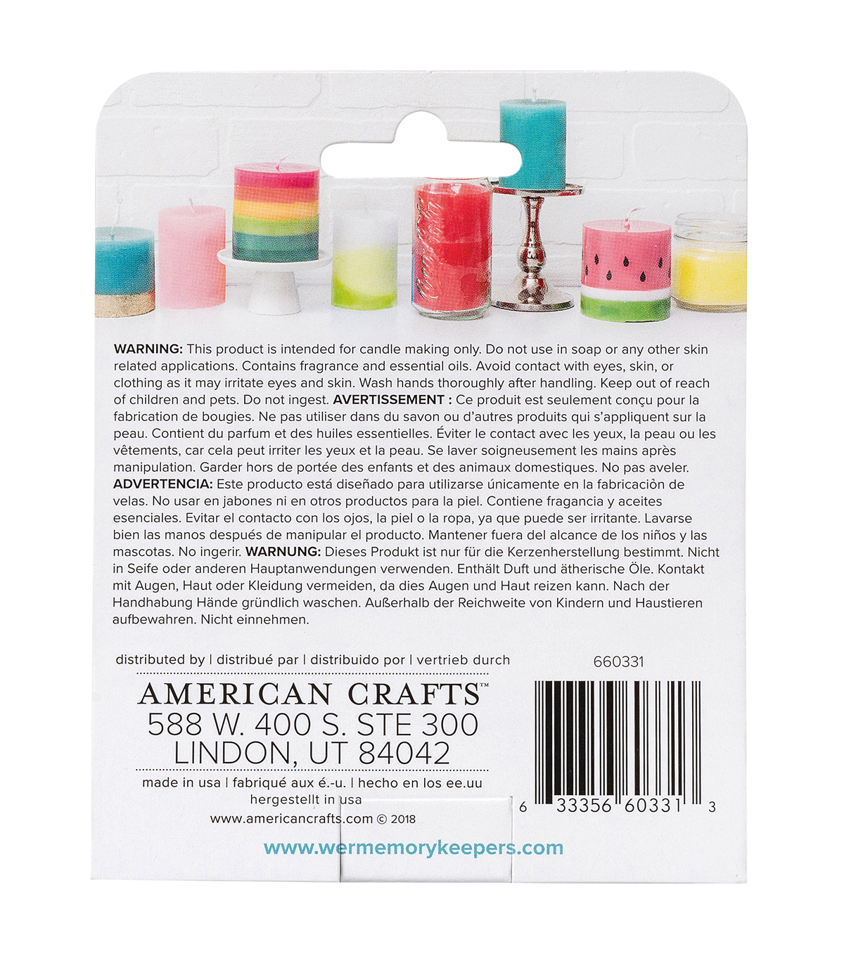 We R Memory Keepers 3 pk Wick Kitchen Comfort Candle Making Scents