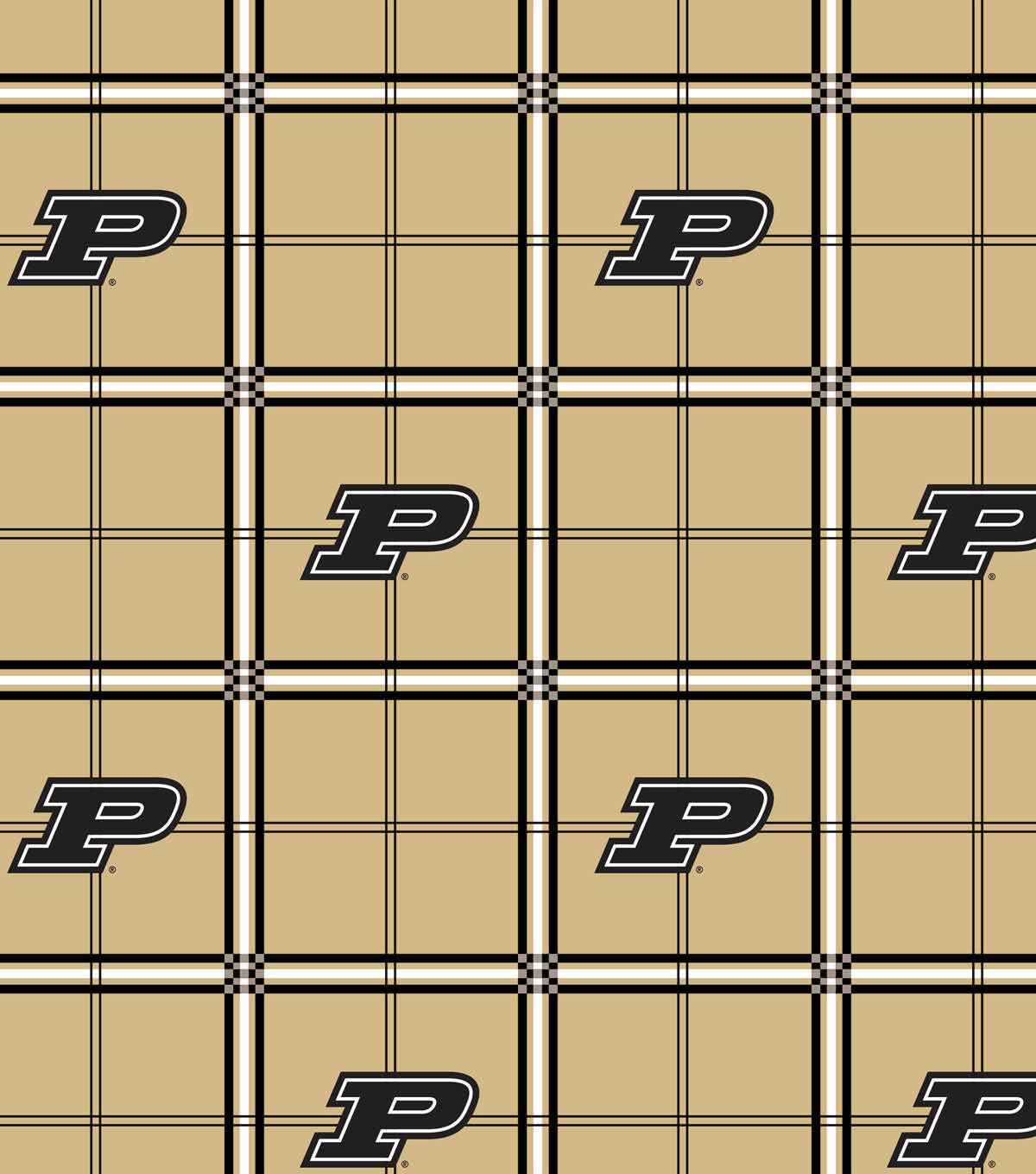 Purdue University Boilmakers Flannel Fabric 42\u0022-Plaid