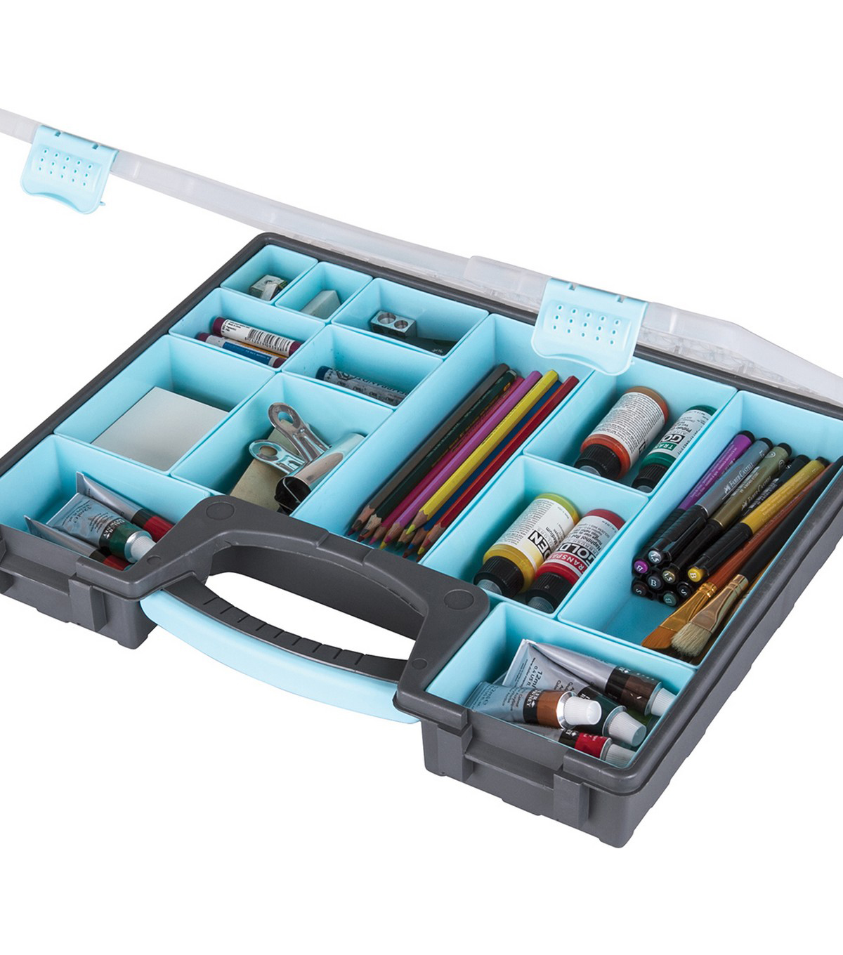 ArtBin Large Quick View Carrying Case with Lift-Out Bins