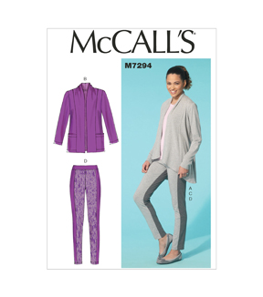 Mccall Pattern M7294-F50-Misses\u0027 Jackets, Top And Leggings-16-18-20-22-24
