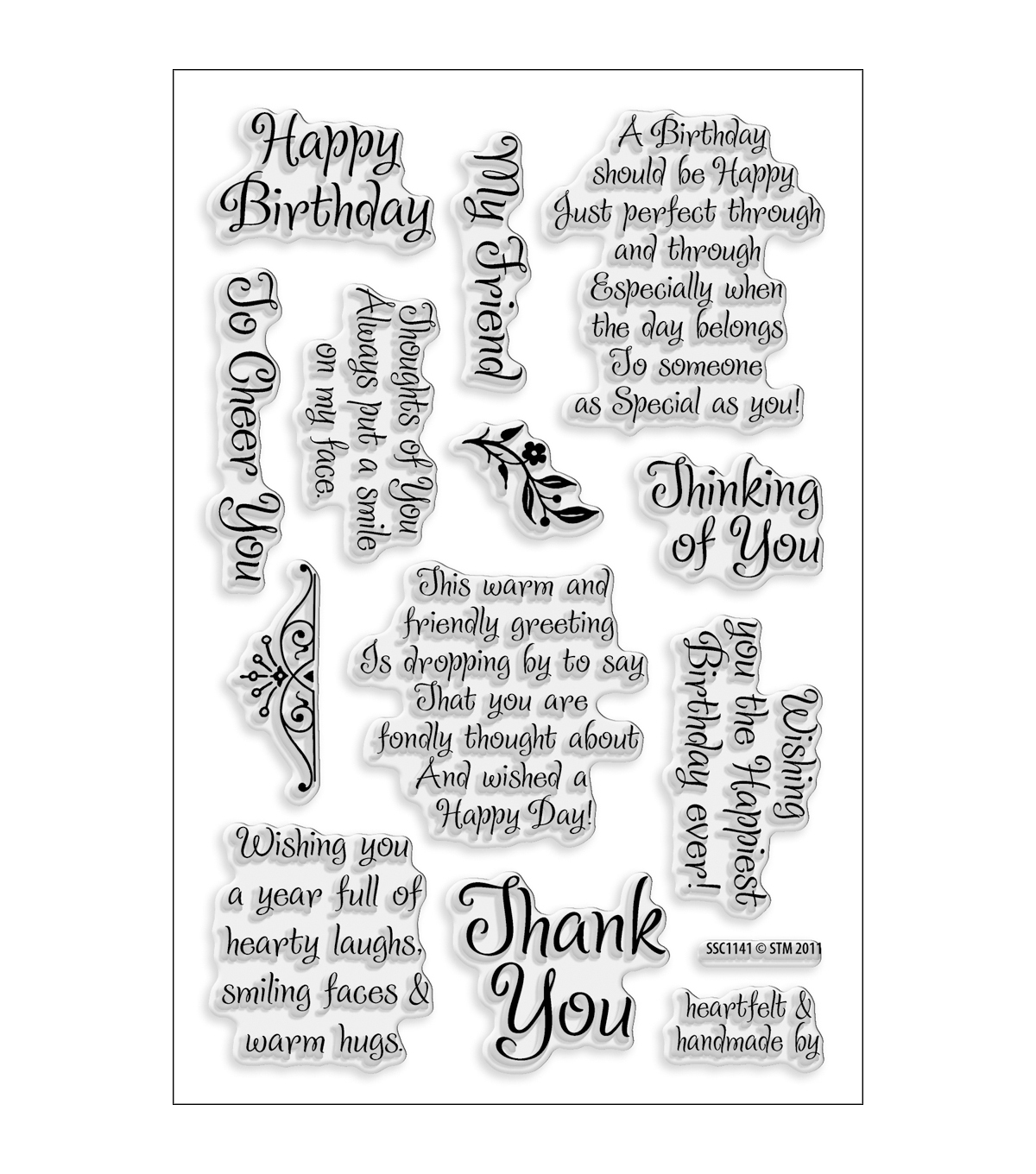 Stampendous Perfectly Clear Stamps 4\u0022X6\u0022 Sheet-Friendly Phrase