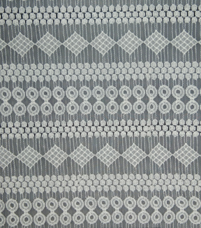 Lace Knit Fabric 54\u0027\u0027-White Circle & Diamond