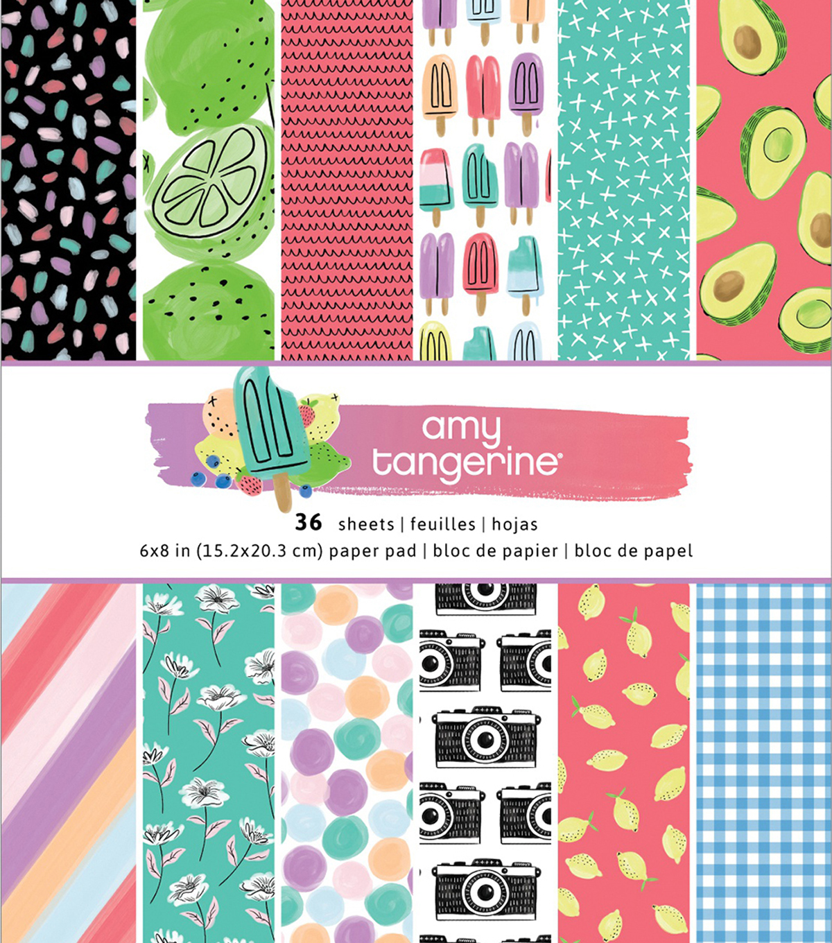 American Crafts Single-Sided Paper Pad 6\u0027\u0027X8\u0027\u0027 36/Pkg-Amy Tan Stay Sweet