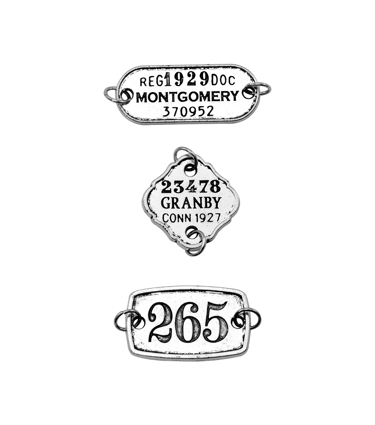 Tim Holtz Assemblage Pack of 3 Tags Charms