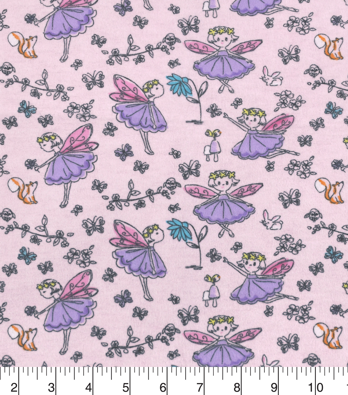 Snuggle Flannel Fabric -Forest Fairies
