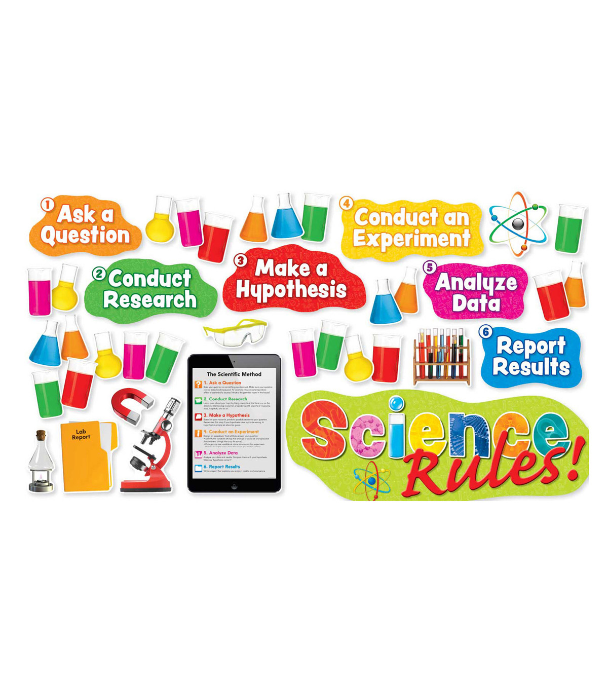 Scholastic Science Rules! Bulletin Board Set, 2 Sets