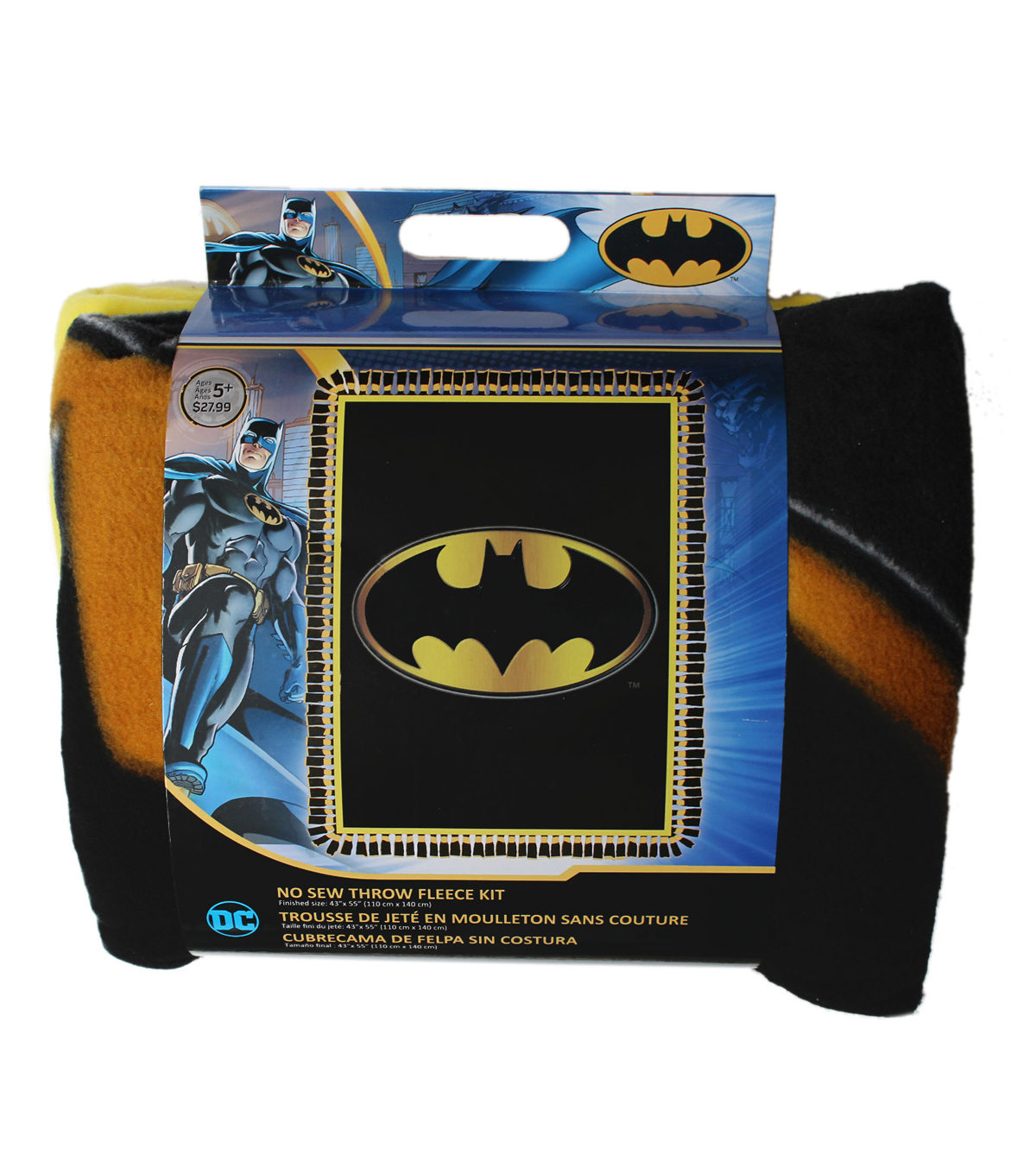 No Sew Fleece Throw -Batman Logo