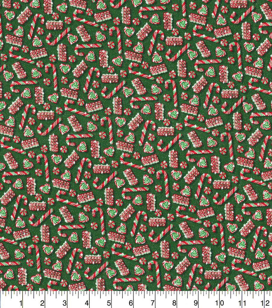 Christmas Cotton Fabric 44\u0022-Peppermint Treats