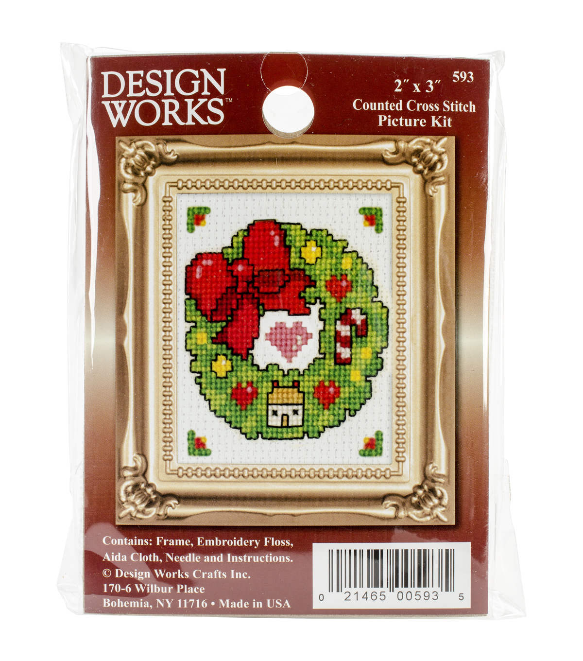 Design Works Wreath Ornament Counted Cross Stitch Kit