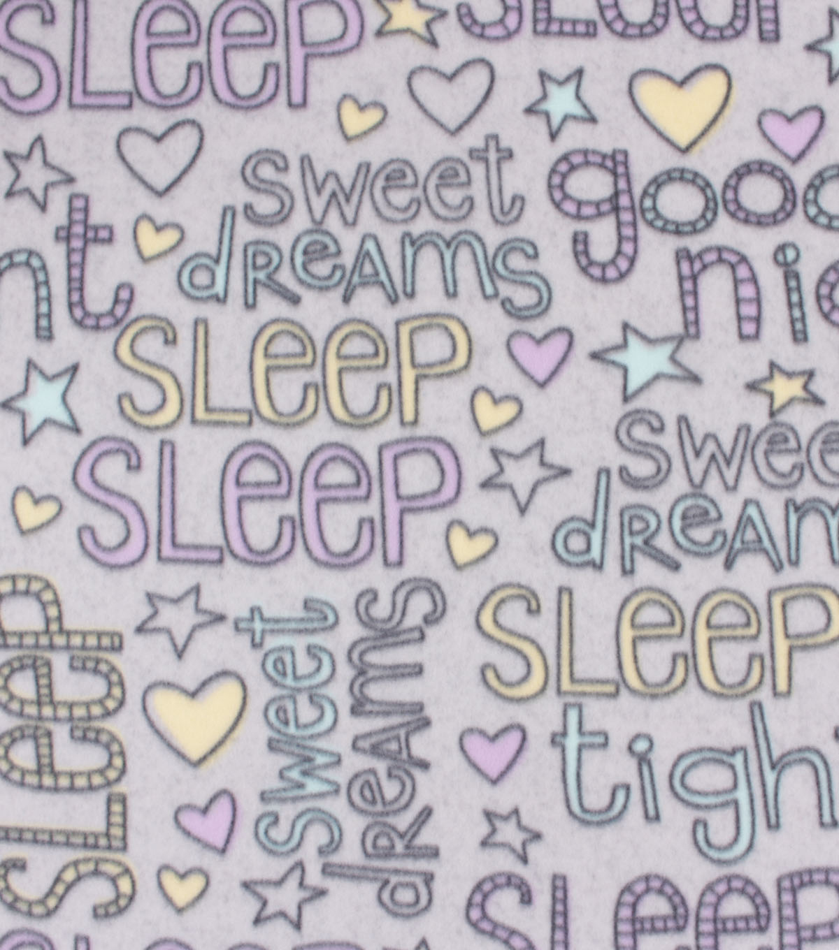 Blizzard Fleece Fabric-Pastel Dream Words
