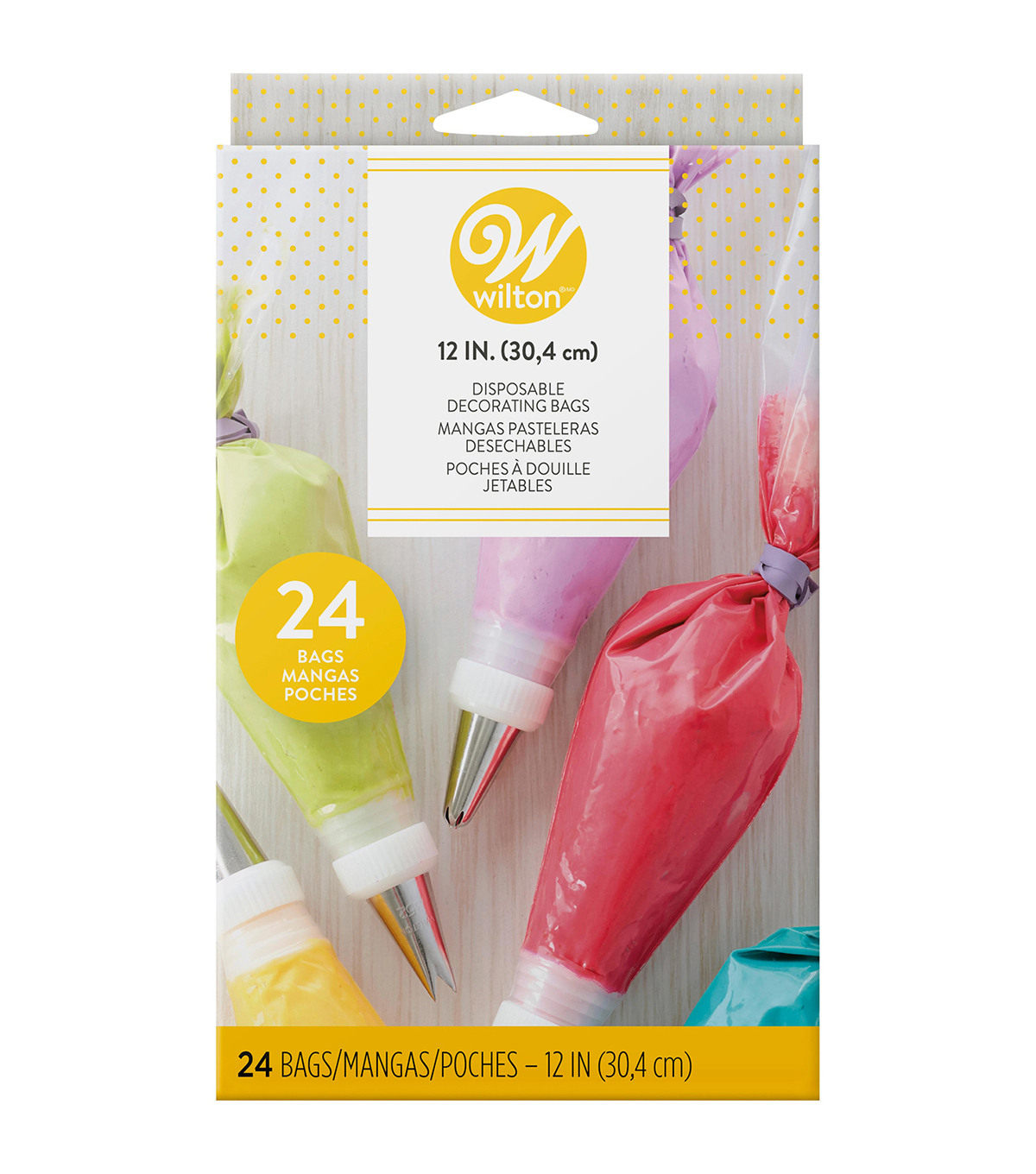 Wilton 12\u0022 Disposable Decorating Bags-24PK