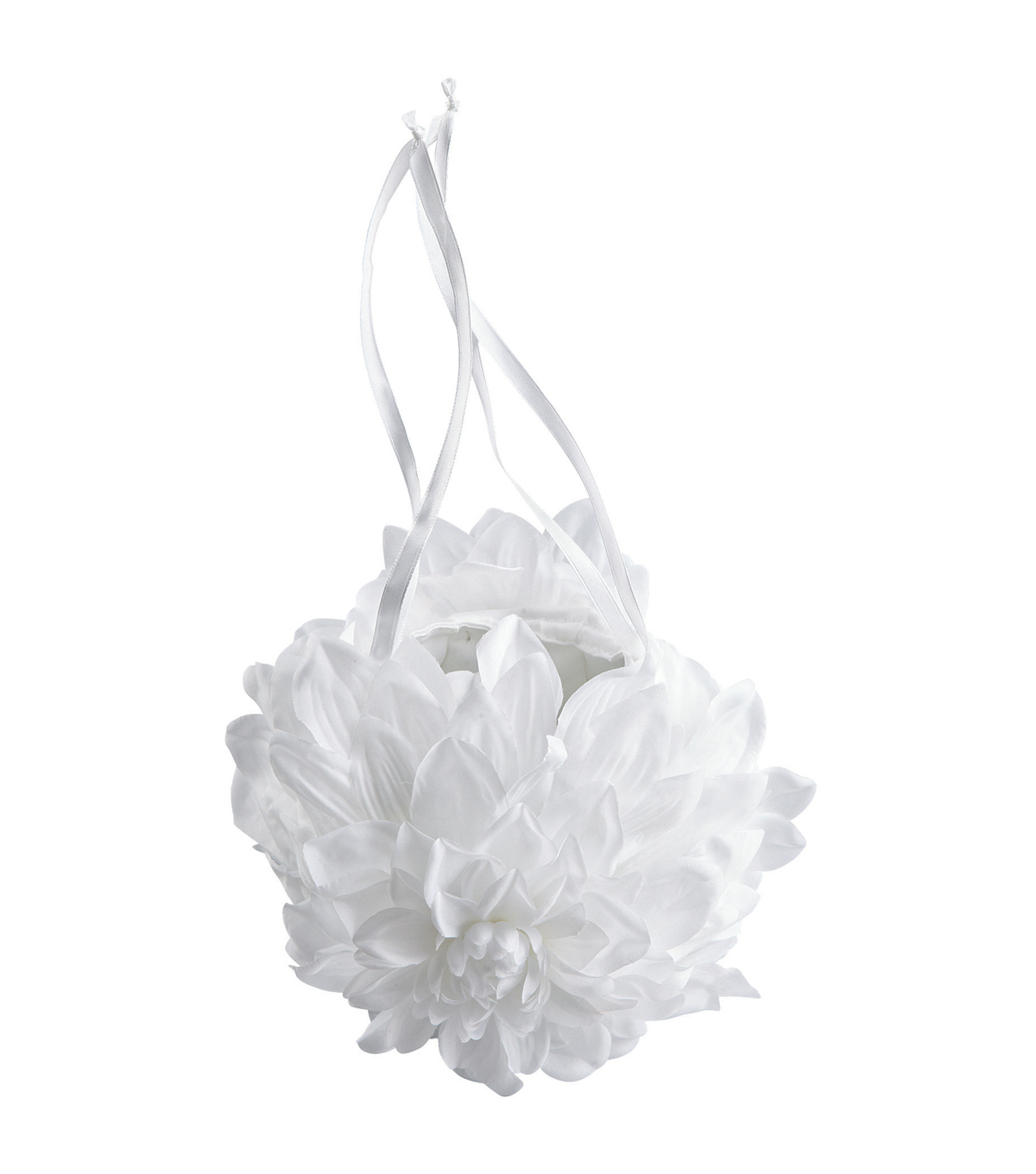 Wilton 3\u0022X5\u0022 Gardenia Wedding Flower Basket-White