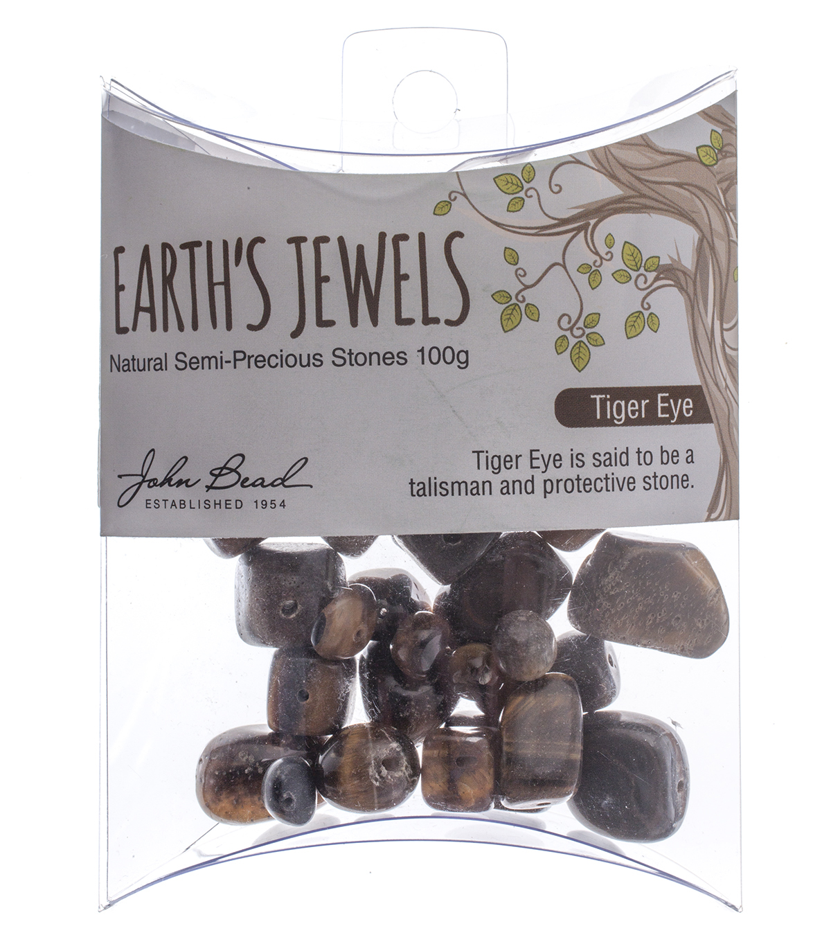 Earth\u0027s Jewels 100g Semi Precious Stones-Tiger Eye