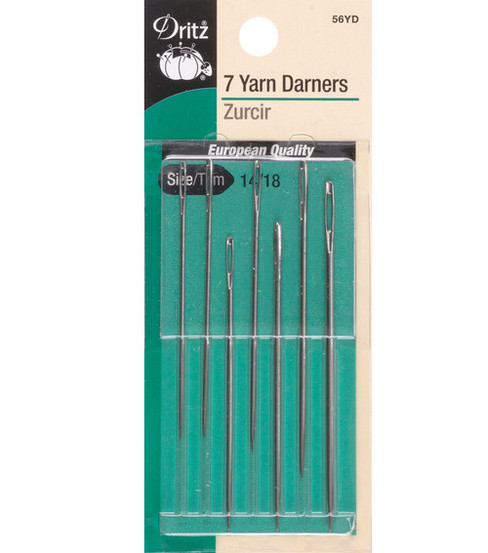 Yarn Darners Hand Needles-Size 14/18 7/Pkg