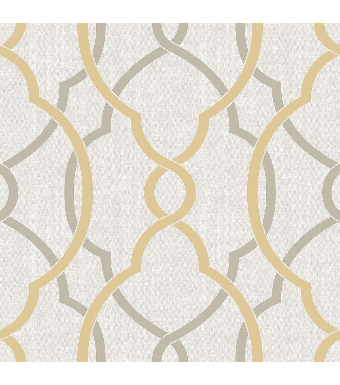 Wallpops Nuwallpaper L Stick Wallpaper Sample Taupe Yellow Sausalito