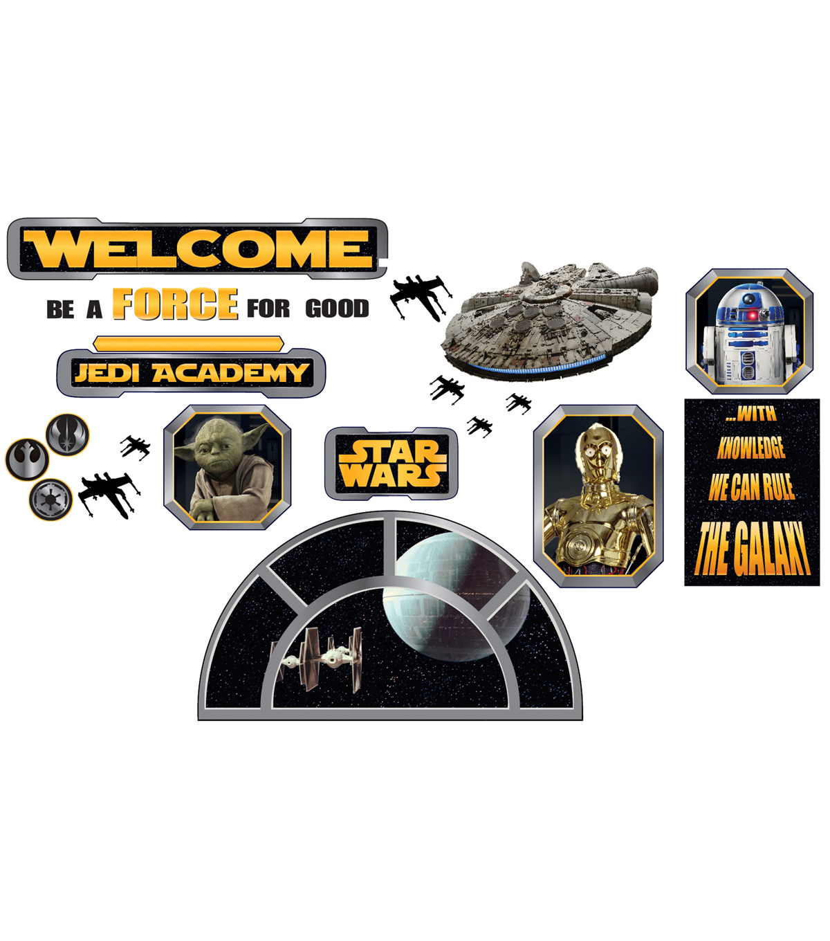Eureka Star Wars Welcome to the Galaxy Bulletin Board Set, 2 Sets
