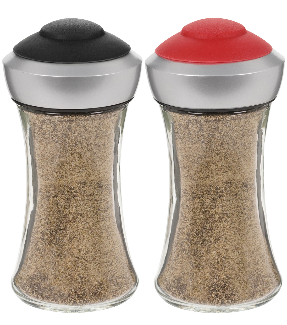 Salt and Pepper Shakers Black & Red