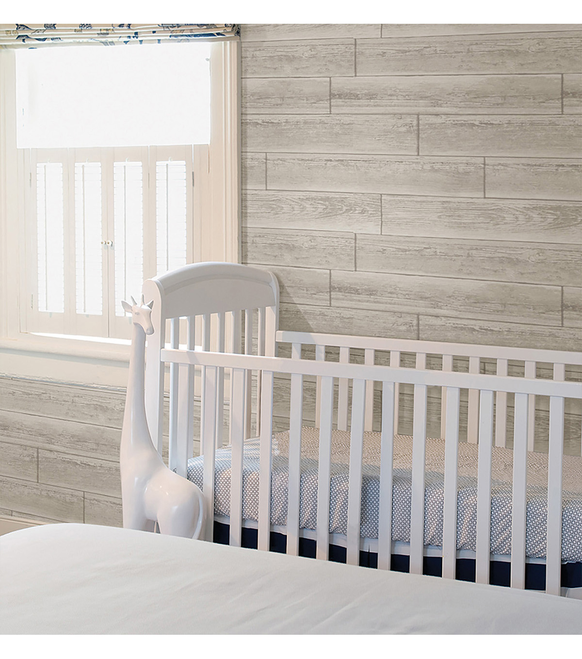 WallPops NuWallpaper Cream Serene  Paneling Peel  & Stick Wallpaper