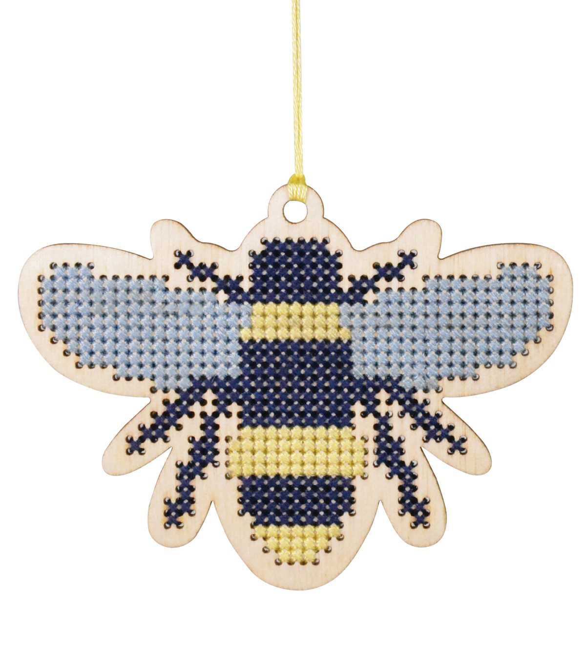 Simply Spring Craft Wood Stitch Kit-Spring Bee