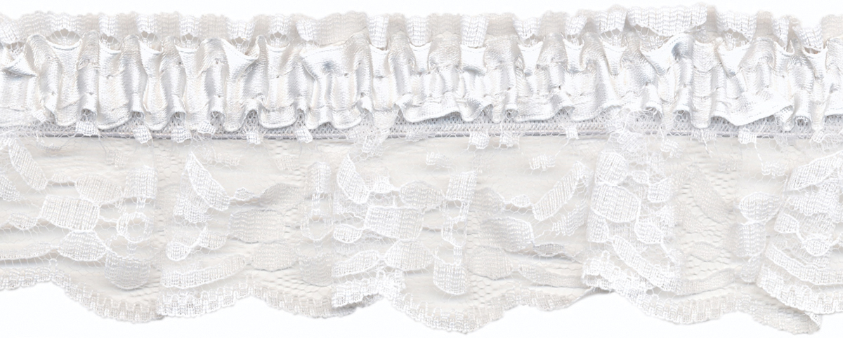 Elastic Garter 2-3/8\u0022 Wide 12 Yards-White