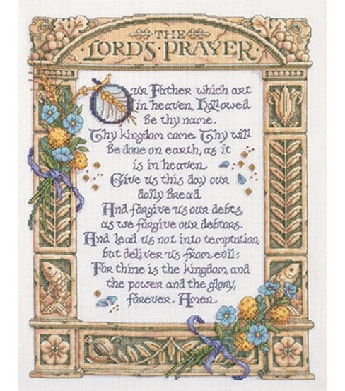 Bucilla Counted Cross Stitch Kit Lord\u0027s Prayer