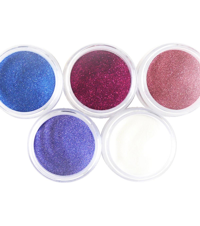 Elizabeth Craft Designs Silk Microfine Glitter Palette 5 Pkg Bloom
