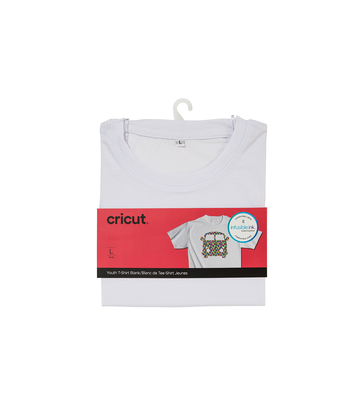 Cricut Infusible Ink Youth Crew Neck T-Shirt -White, Large