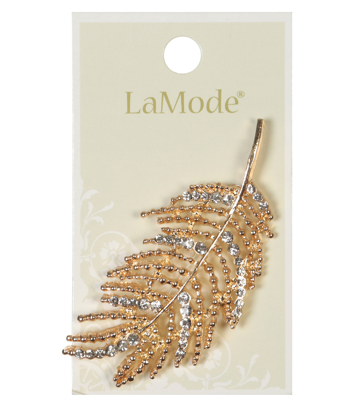 LaMode Large Feather Pin