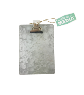Galvanized Pegboard Clipboard
