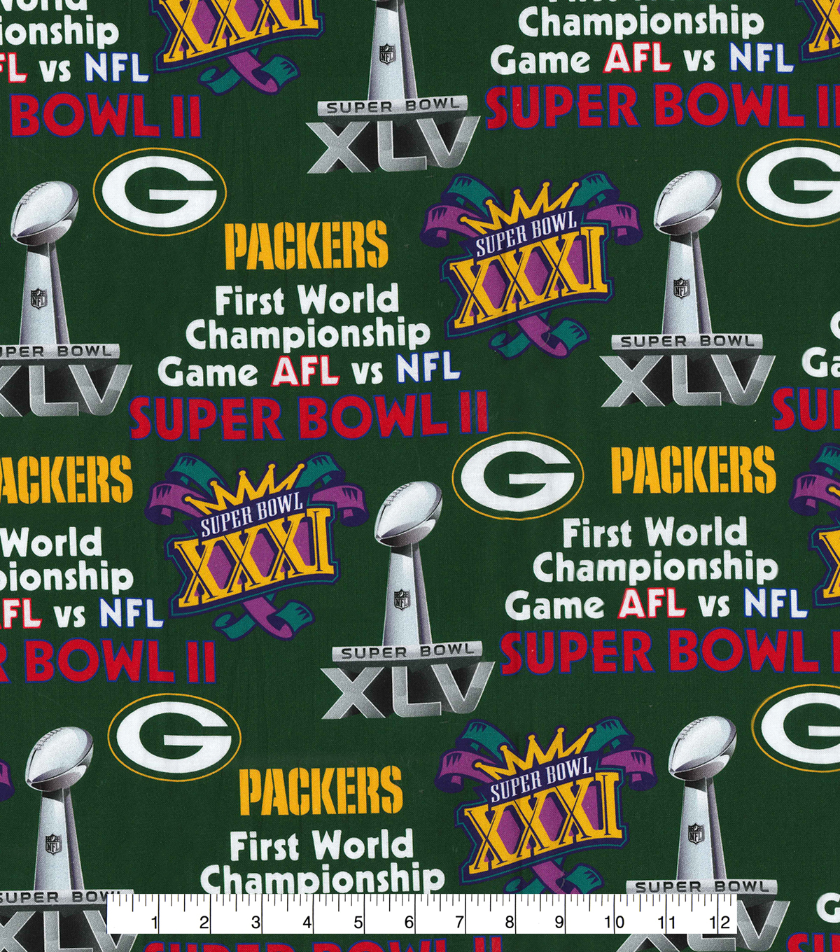Green Bay Packers Champion Legacy Cotton Fabric