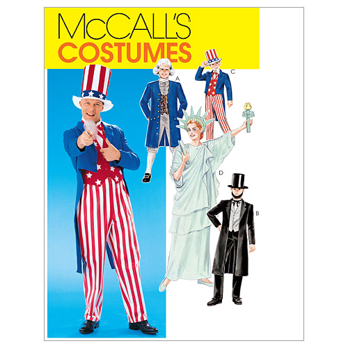 McCall\u0027s Pattern M6143 Adult & Childrens\u0027 Political Costumes, Size Small