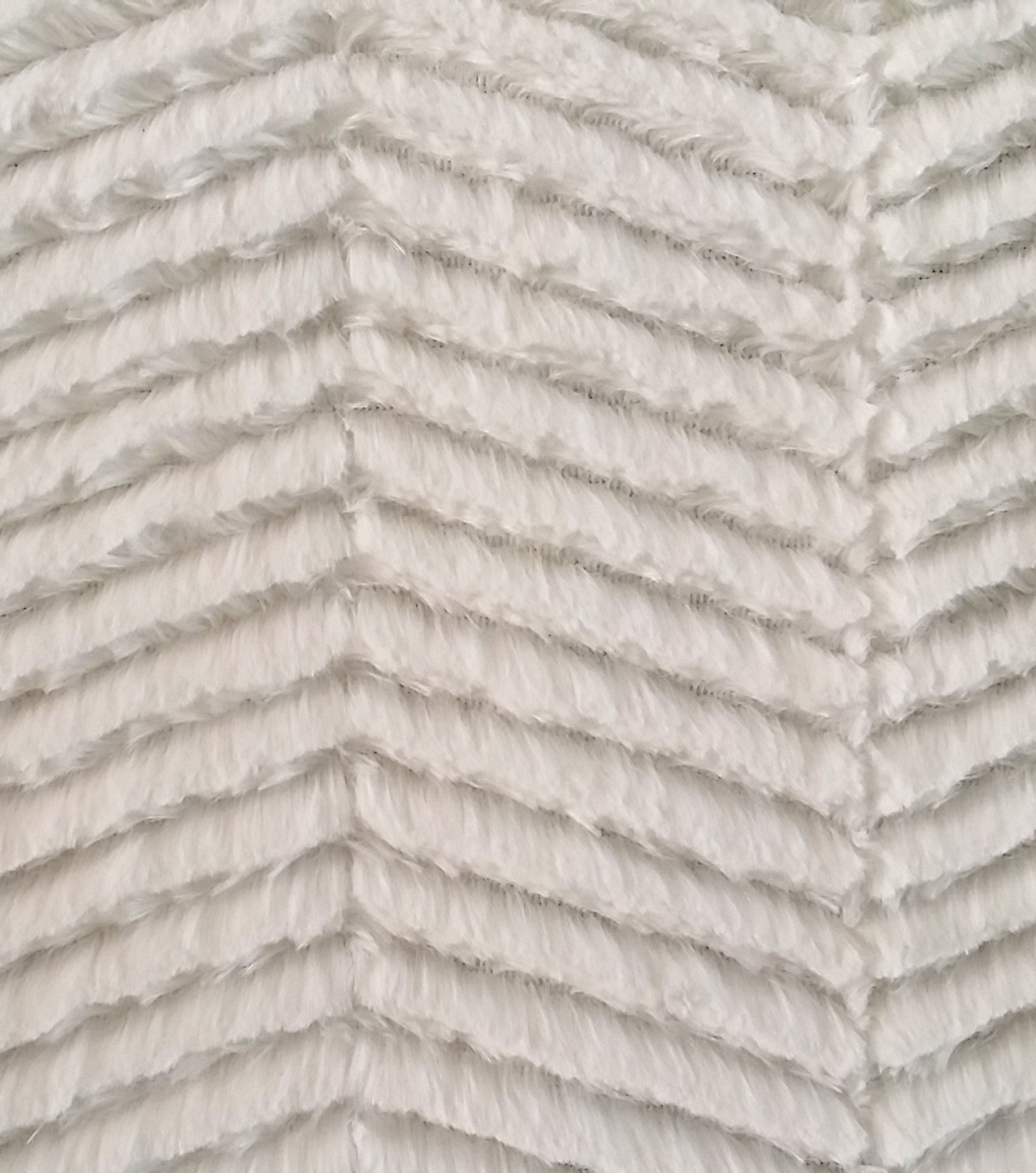 Luxury Faux Fur Fabric -Chevron