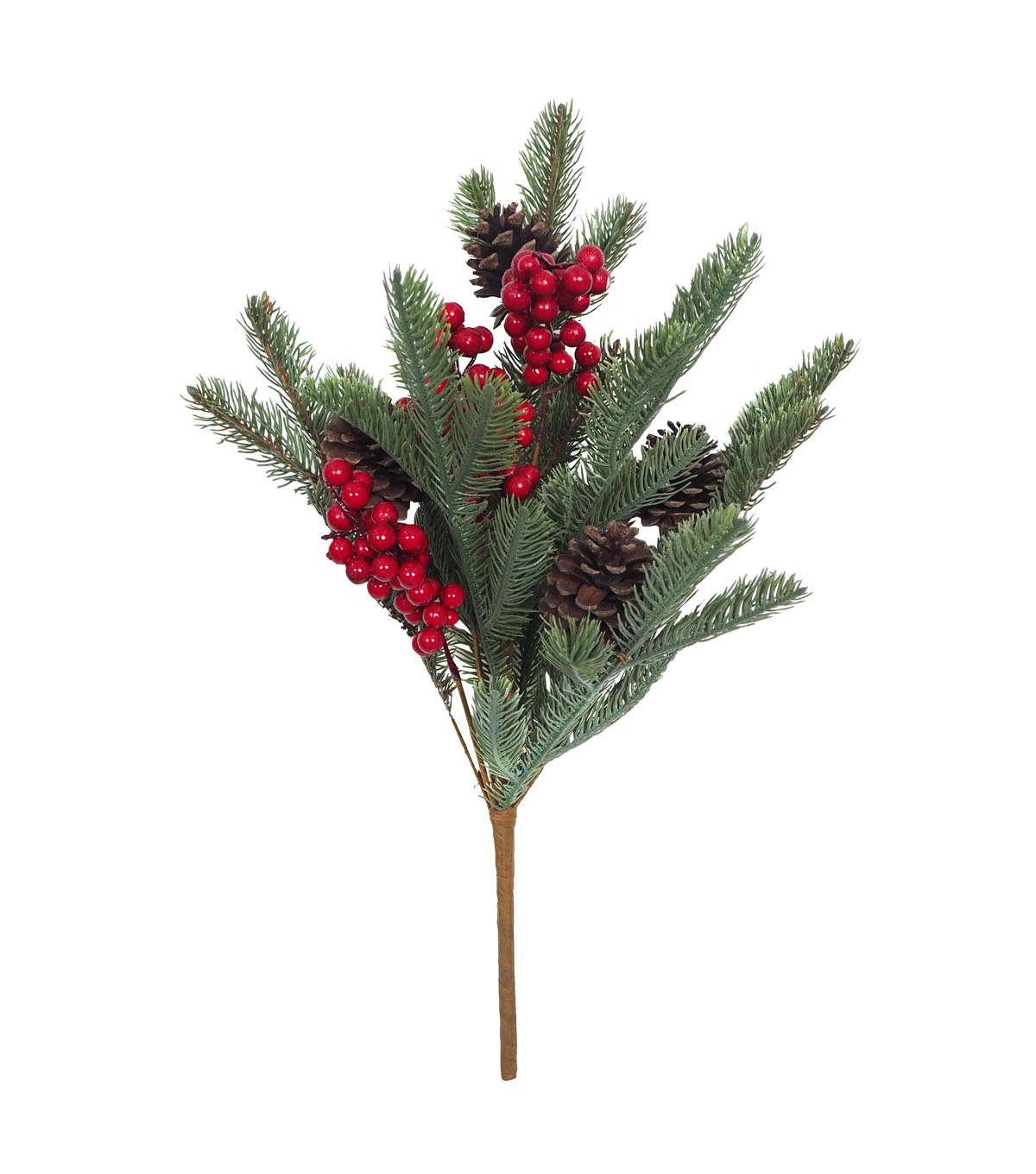 Blooming Holiday Christmas Pinecone, Berry & Green Spruce Bush