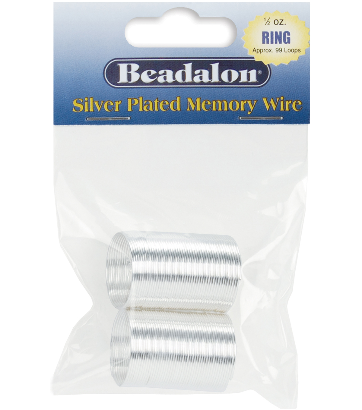 Memory Wire Ring .5oz/Pkg-Silver Plated/Approx 99 Loops