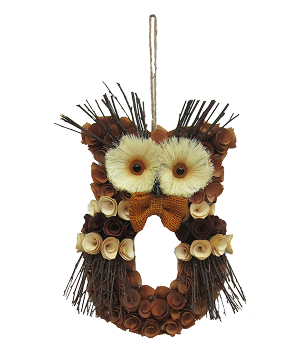Blooming Autumn Small Wood Curl Owl
