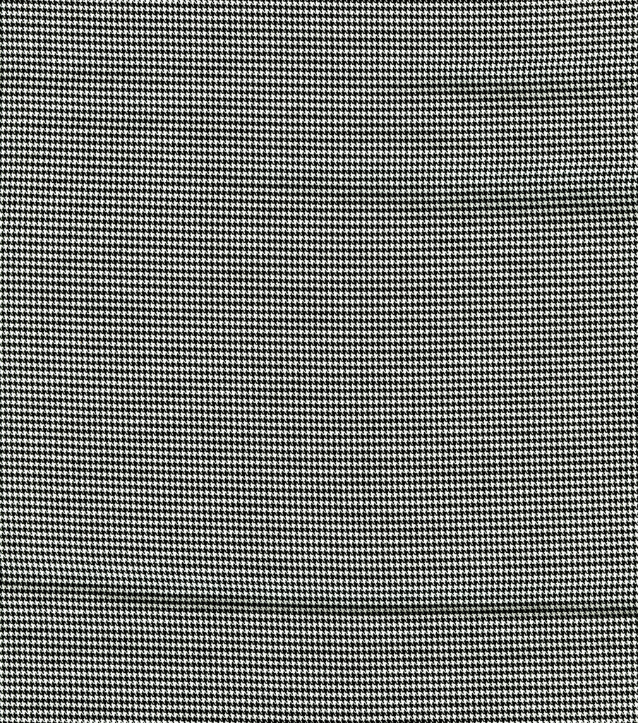 Fashion Poly Spandex Suiting Fabric -Black and White