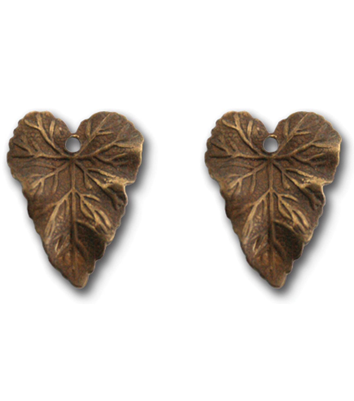 Vintaj Metal Accent-Woodland Leaf 18x14mm
