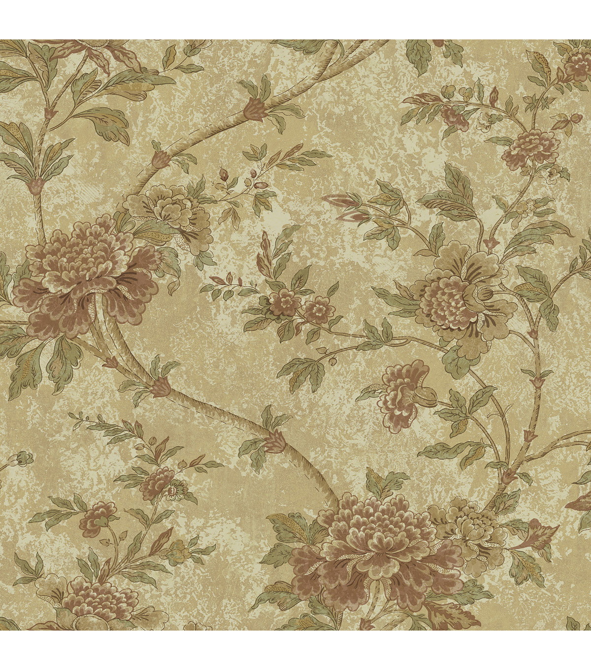 Yellow Floral Trail Wallpaper Sample