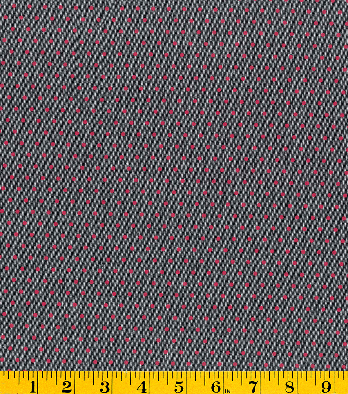 Gertie Collection Fabrics- Chambray Red Dot Cotton Fabric