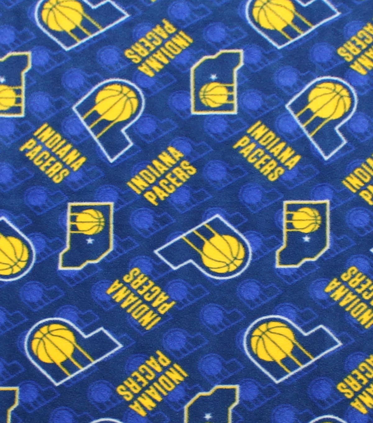 Indiana Pacers Fleece Fabric -Logo Toss