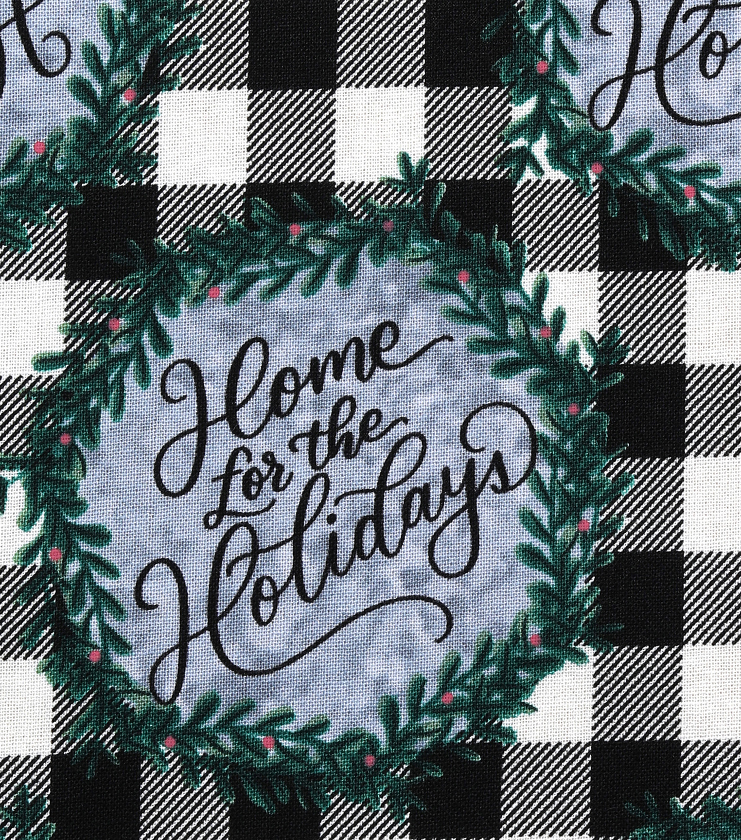 Christmas Cotton Fabric-Home For The Holidays Plaid